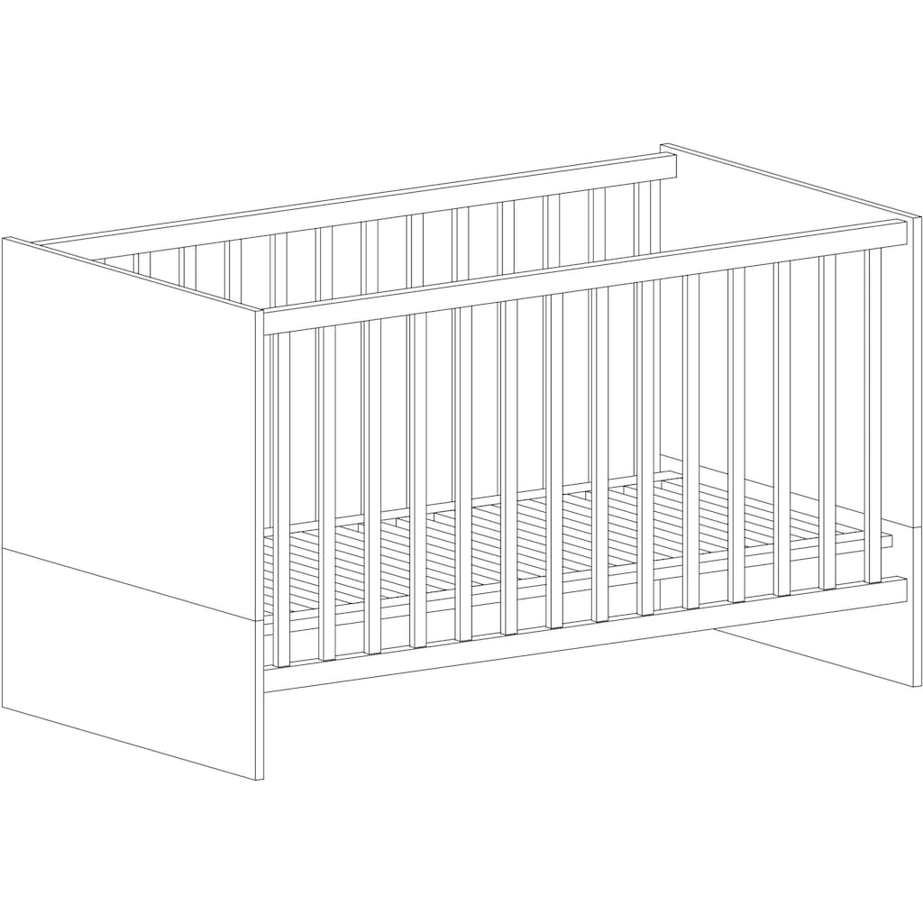 arthur berndt Babymöbel-Set »Liam«, (Spar-Set, 2 St.), mit Kinderbett und Wickelkommode; Made in Germany