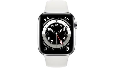 Apple Series 6 GPS + Cellular, Edelstahlgehäuse mit Sportarmband 44mm Watch (Watch OS) kaufen