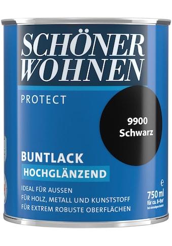 SCHÖNER WOHNEN FARBE Lack »Protect Buntlack«, hochglänzend, 750 ml, schwarz kaufen