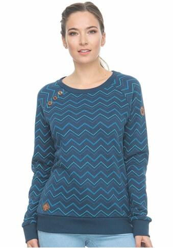 Ragwear Sweater »DARIA ZIG ZAG«, mit Zierknopf-Besatz in natürlicher Holzoptik kaufen