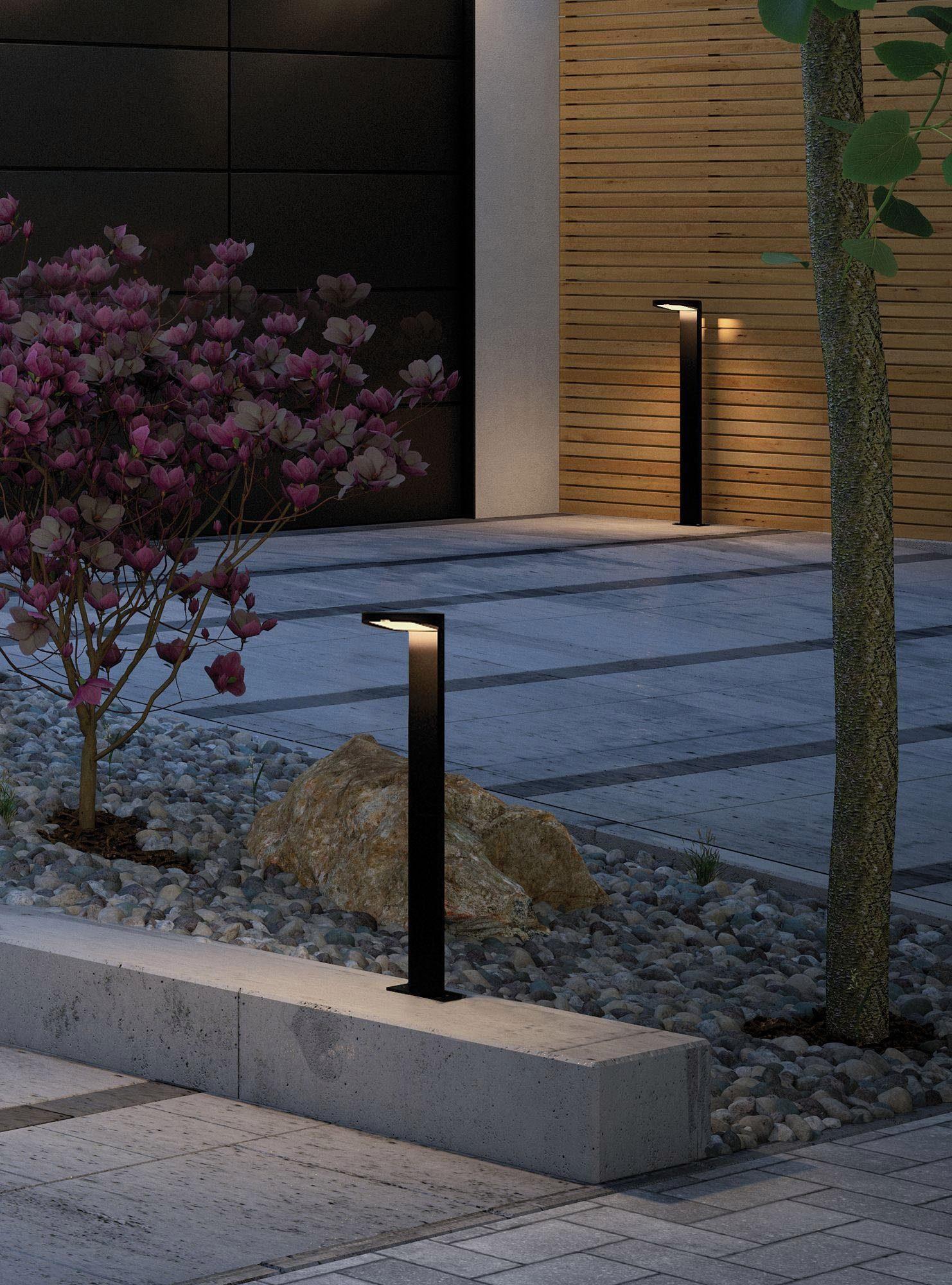 Paulmann,LED Pollerleuchte Solar Ryse Anthrazit mit Bewegungsmelder 3000K 100lm
