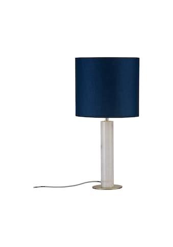 Paulmann,LED Tischleuchte»Olar mit Stoffschirm Blau/Marmor weiß/Messing max. 20W E27«, kaufen