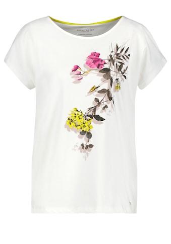 GERRY WEBER Kurzarmshirt »Shirt mit Blumenranke organic cotton« kaufen