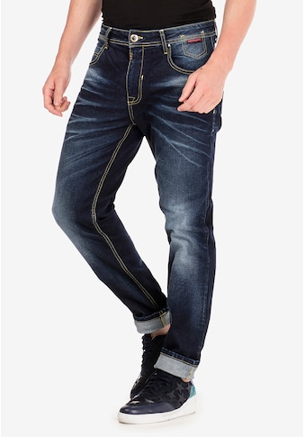 Cipo & Baxx Slim-fit-Jeans, im Washed-Look in Straight Fit kaufen