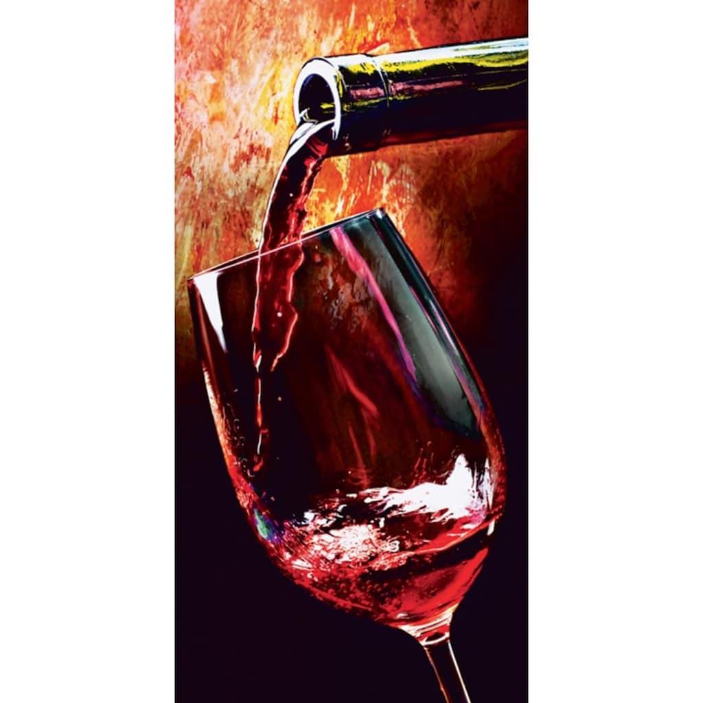 Home affaire Glasbild »Wine«, 30/60 cm