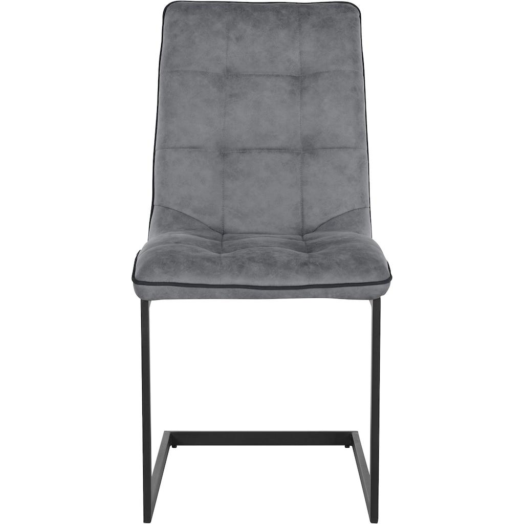 INOSIGN Esszimmerstuhl »Micah«, mit einem pflegeleichten Microfaser Bezug, Gestell aus Metall, Sitzhöhe 46,5 cm