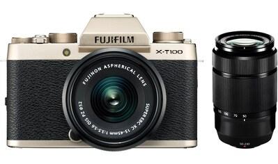 FUJIFILM »X - T100« Systemkamera (FUJINON XC15 - 45mmF3.5 - 5.6 OIS PZ, 24,2 MP, WLAN (Wi - Fi) Bluetooth) kaufen