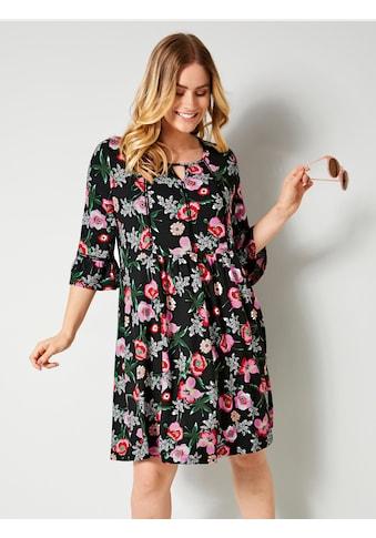 Sara Lindholm by Happy Size Jerseykleid mit Blumendruck kaufen