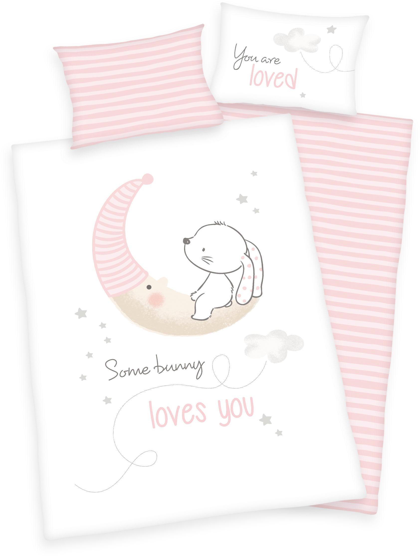 Baby Bettwäsche Weiß Spitze Emba Tum