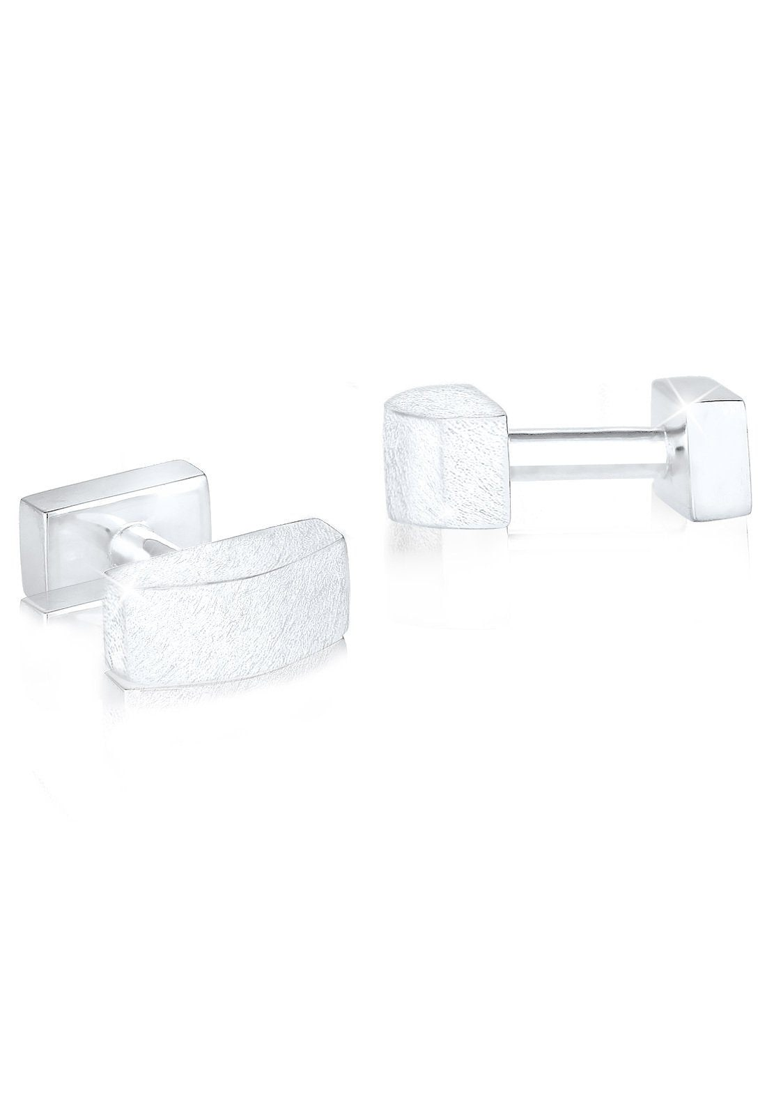 Paulo Fanello Manschettenknöpfe Rechteck Geo Basic Brushed 925 Sterling Silber | Accessoires > Manschettenknöpfe | Paulo Fanello