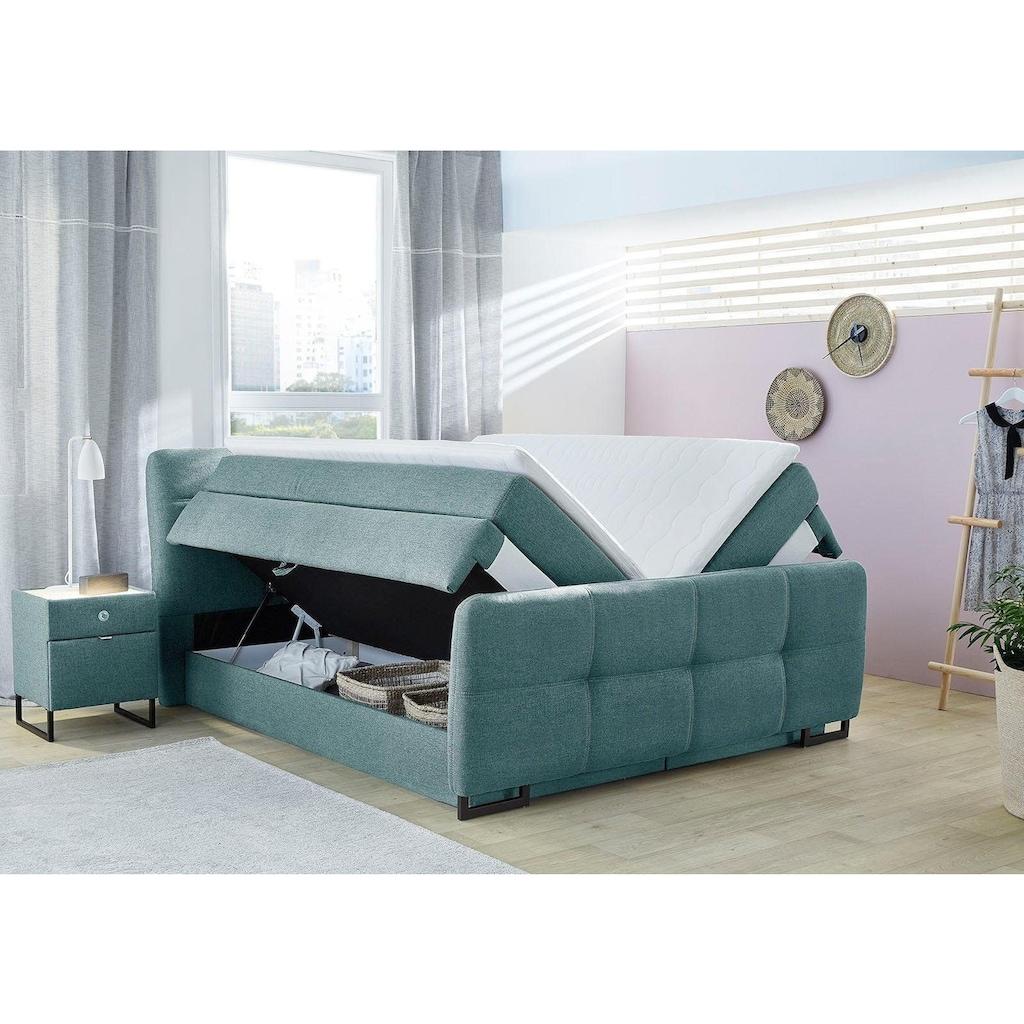 Jockenhöfer Gruppe Boxspringbett, mit Topper und Bettkasten