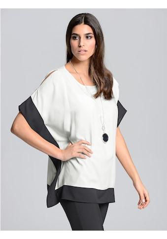 Alba Moda Blusenshirt in kontrastfarbiger Optik kaufen