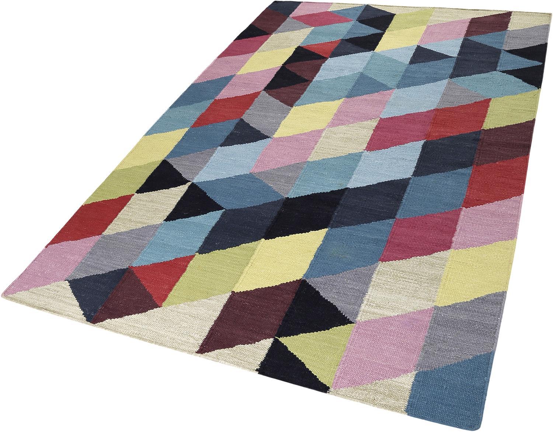 Teppich Rainbow Triangel Esprit rechteckig Höhe 5 mm handgewebt