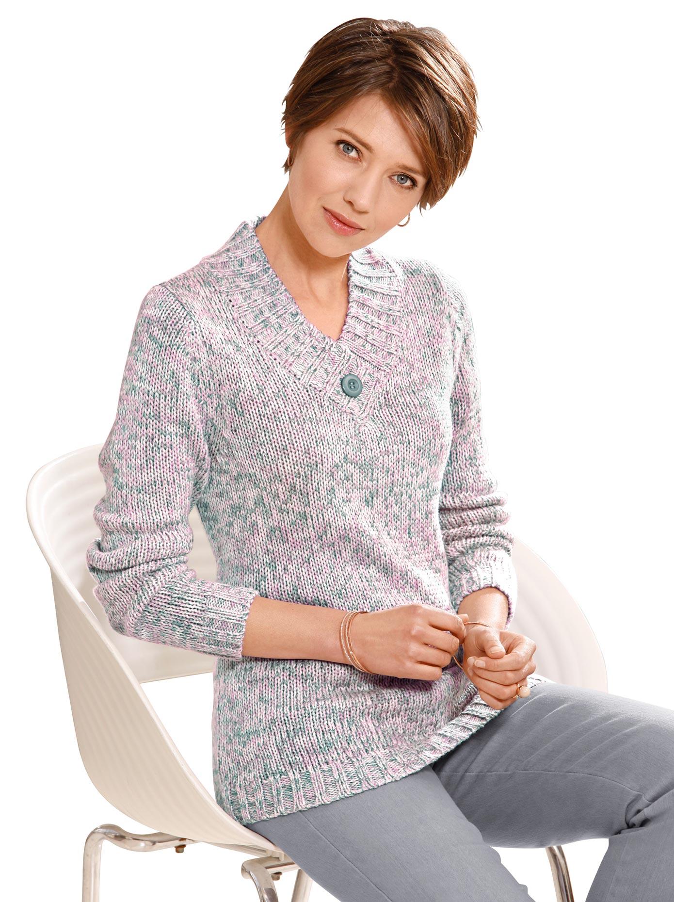 Casual Looks Pullover mit Schmuckknopf kaufen | BAUR