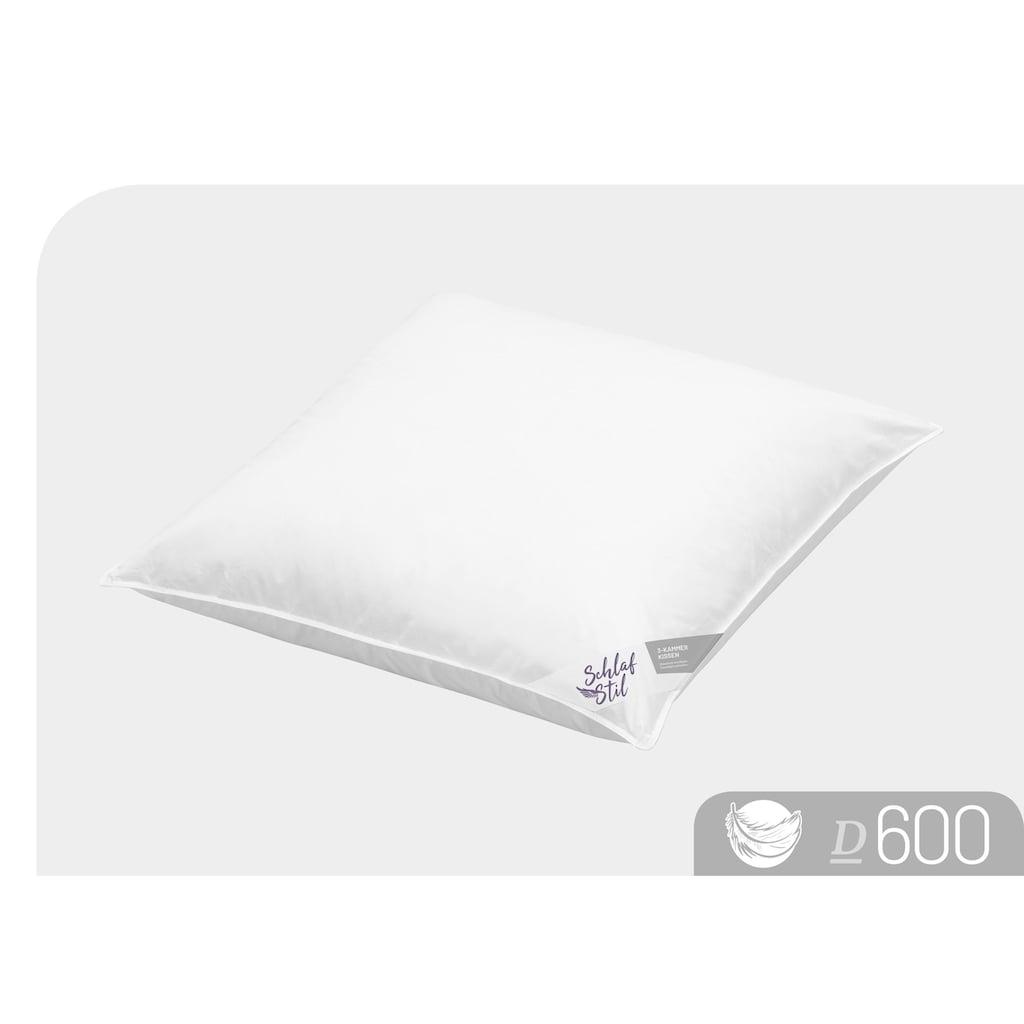 Schlafstil 3-Kammer-Kopfkissen »D600«, (1 St.), hergestellt in Deutschland, allergikerfreundlich