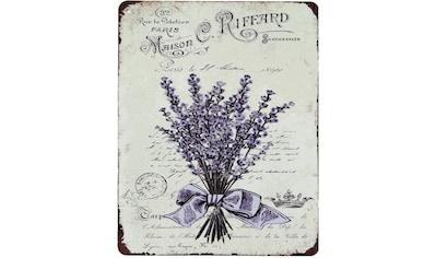 Ambiente Haus Metallschild »Metallbild - Lavendel«, (1 St.) kaufen