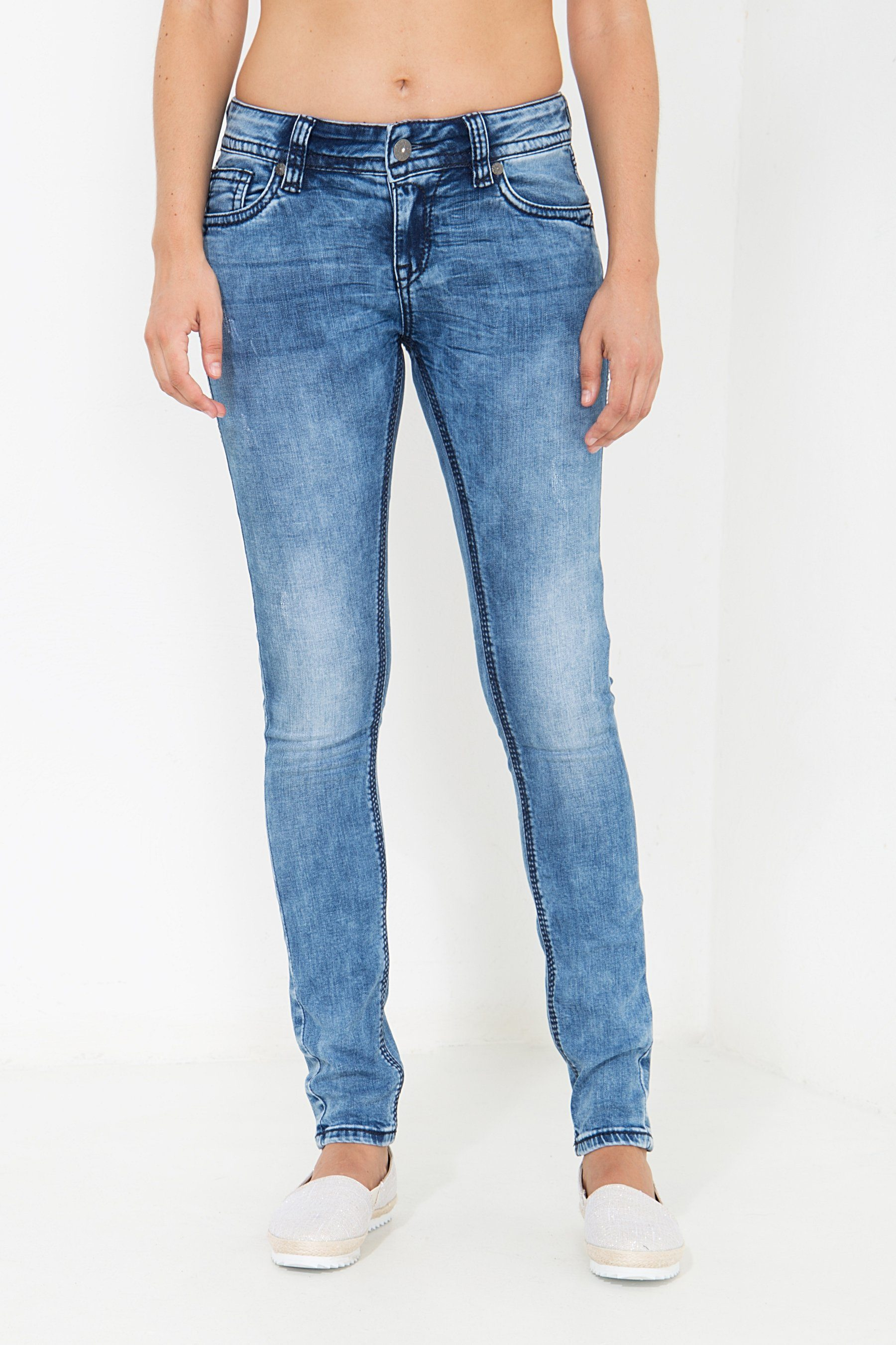 Blue Monkey Skinny-fit-Jeans Luna 3936 | 04251484680998