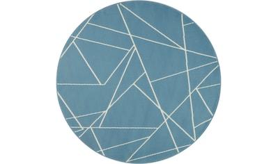 my home Teppich »Oswyn«, rund, 8 mm Höhe, Kurzflor, Wohnzimmer kaufen