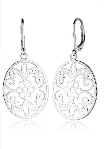 Elli Paar Ohrhänger »Ornament Blume Orientalisch Oval 925 Silber« kaufen
