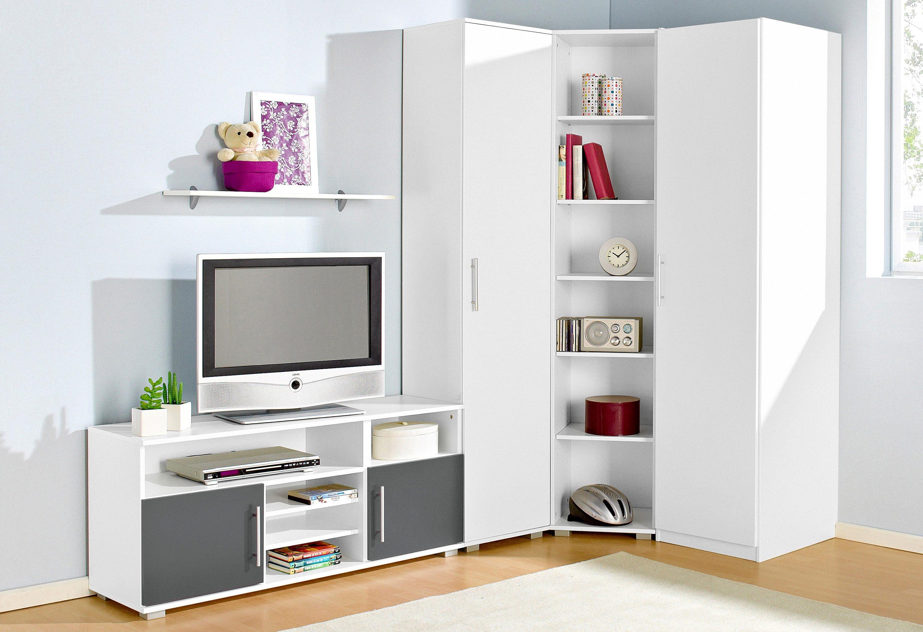 Jugendzimmer-Set (Set 5-tlg)   Kinderzimmer > Jugendzimmer > Komplett-Jugendzimmer   Grau
