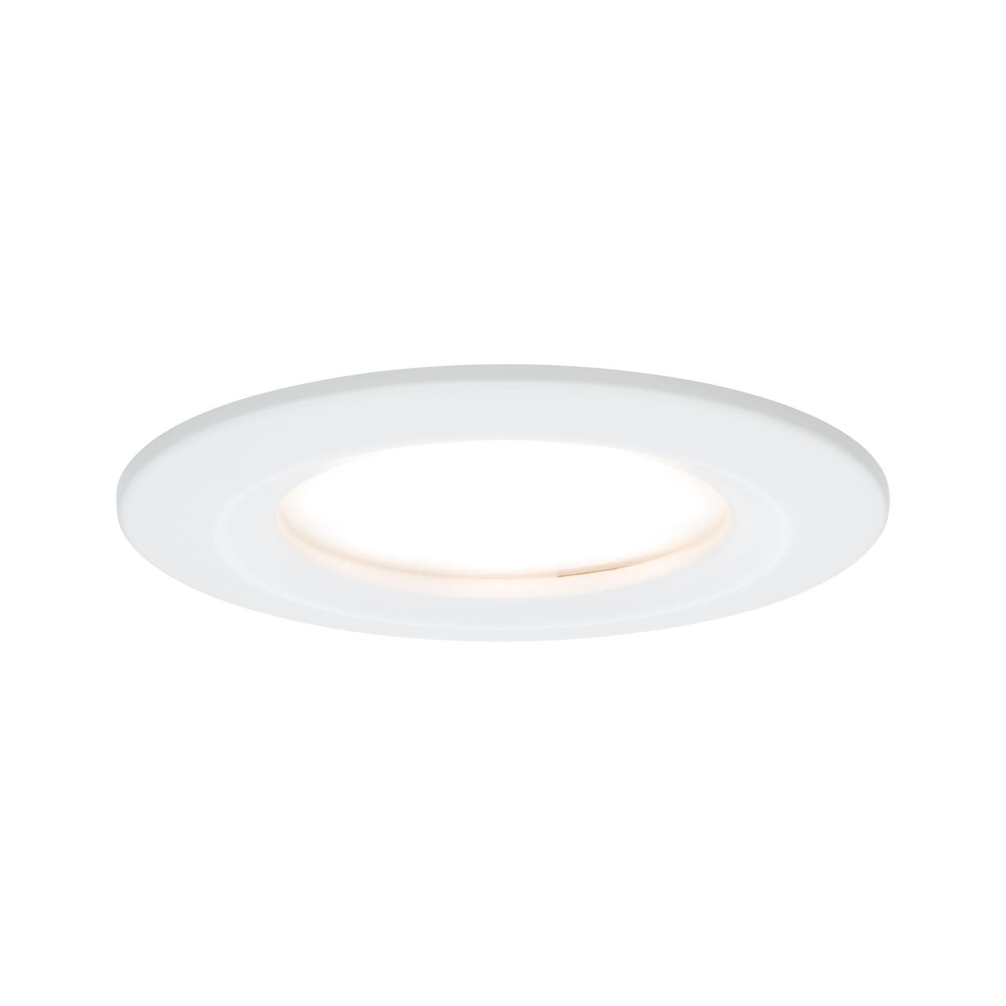 Paulmann LED Einbaustrahler Nova rund 3x6,5W Weiß matt starr 3-Stufen-dimmbar, 3 St., Warmweiß
