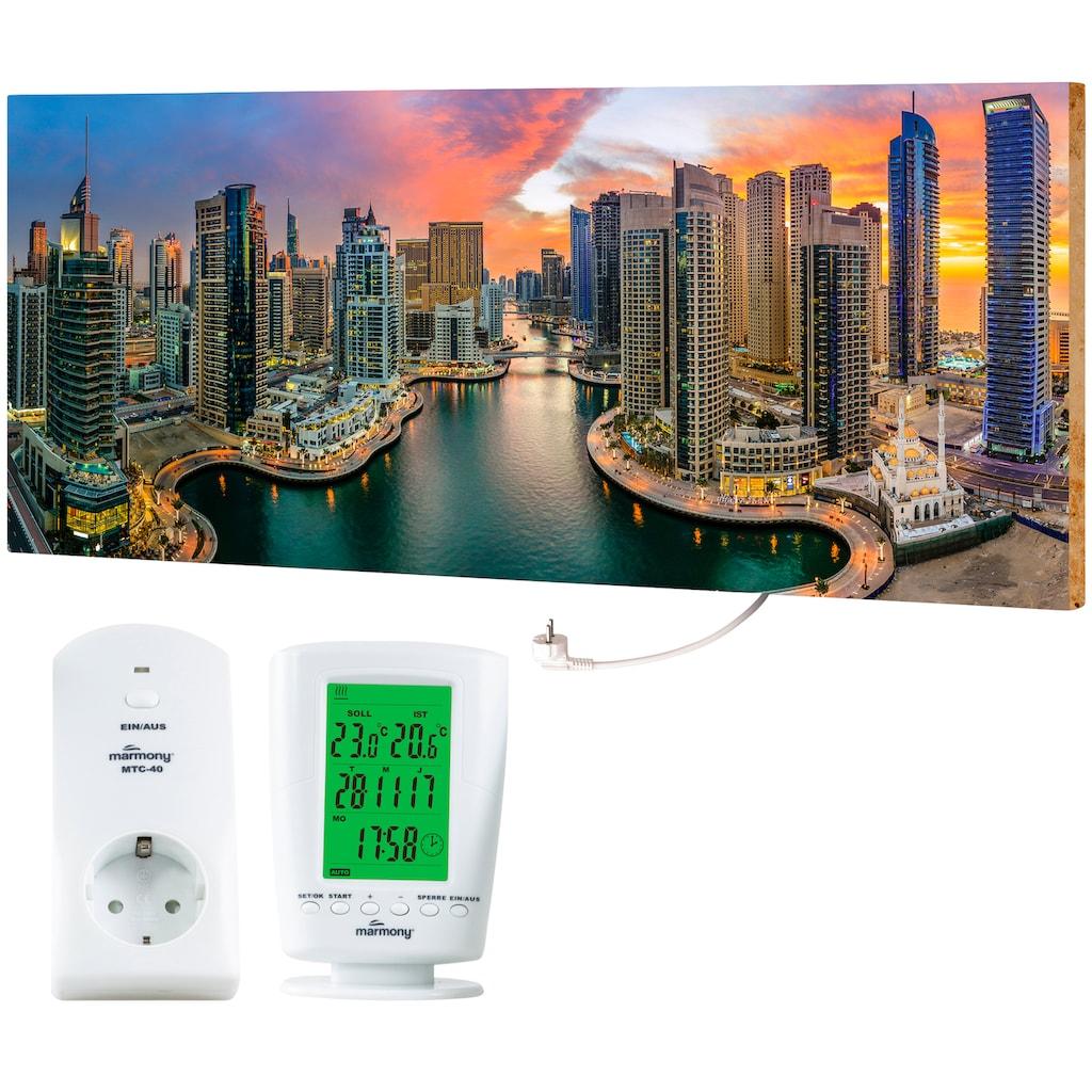"""Marmony Infrarotwandheizung »MOTIV-Heizkörper """"Dubai Marina"""", 800 Watt«, trocknet Wände und Mauerwerk, aus deutschem Jura-Naturstein"""