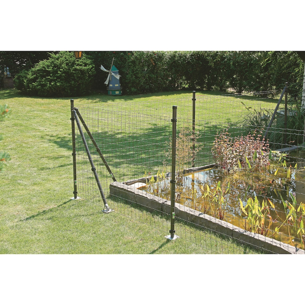 GAH Alberts Schweissgitter »Fix-Clip Pro®«, 81 cm hoch, 25 m, anthrazit beschichtet, mit Bodenhülsen