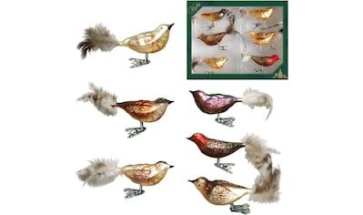 """Krebs Glas Lauscha Weihnachtsbaumklammer """"Waldvögel"""" (6 - teilig) kaufen"""