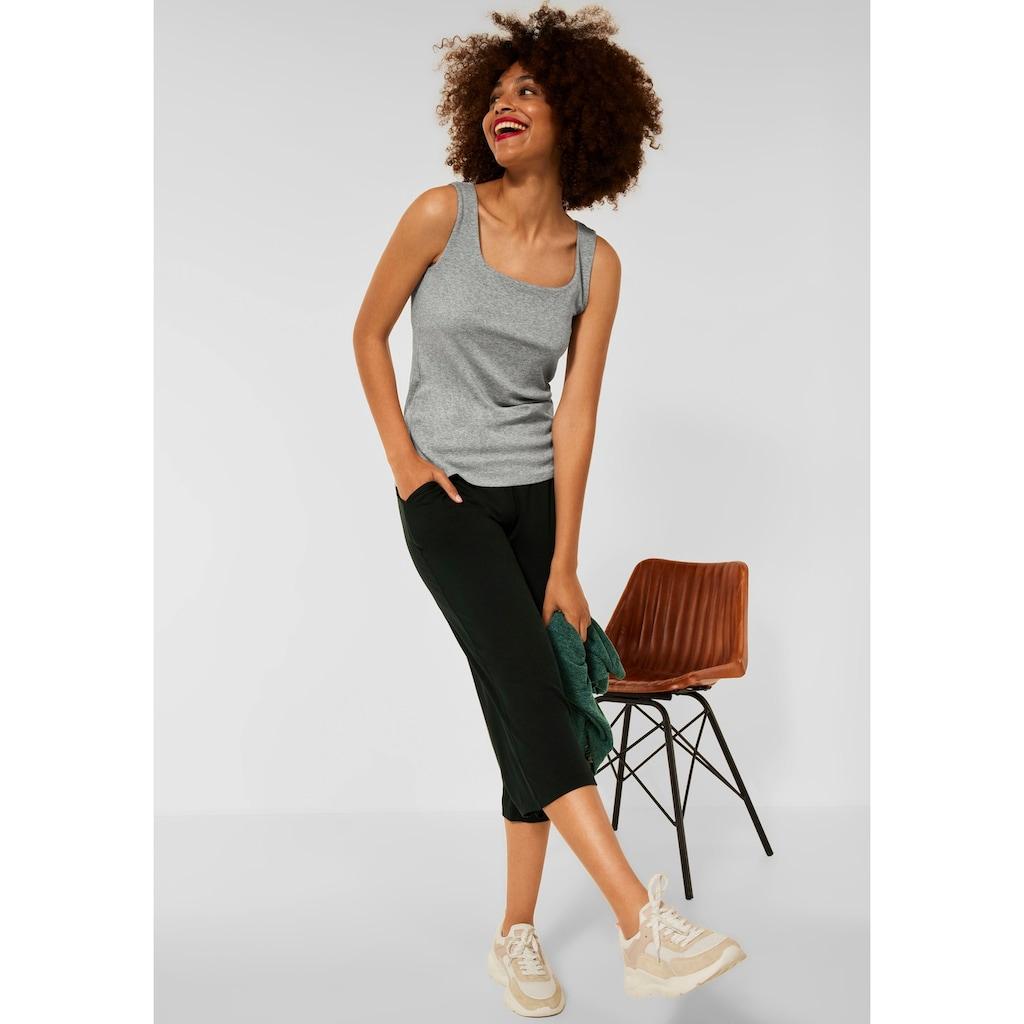 STREET ONE Rundhalsshirt »Style Gania«, das perfekte Basic-Top