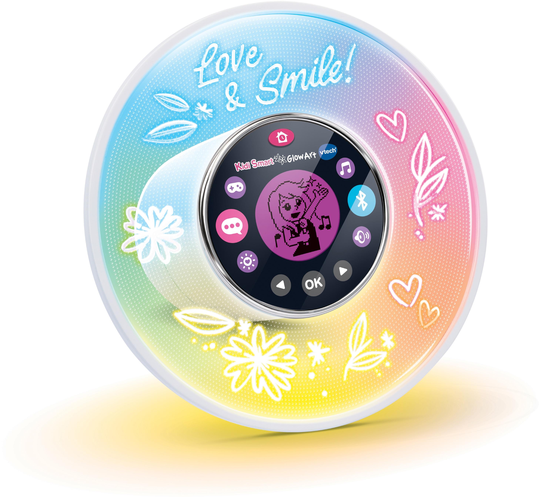 Vtech Lernspielzeug KidiSmart Glow Art, 10-in1 Bluetooth-Lautsprecher bunt Kinder Lernspiele