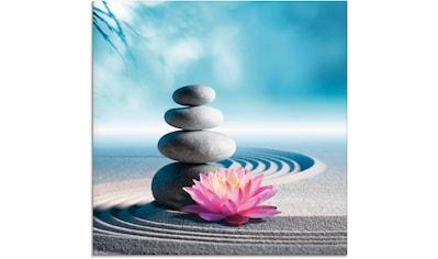 Artland Glasbild »Sand, Lilie und Spa - Steine in Zen - Garten« kaufen