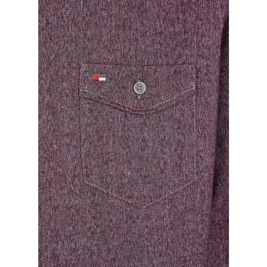 Jupiter Langarmhemd in Jeansoptik