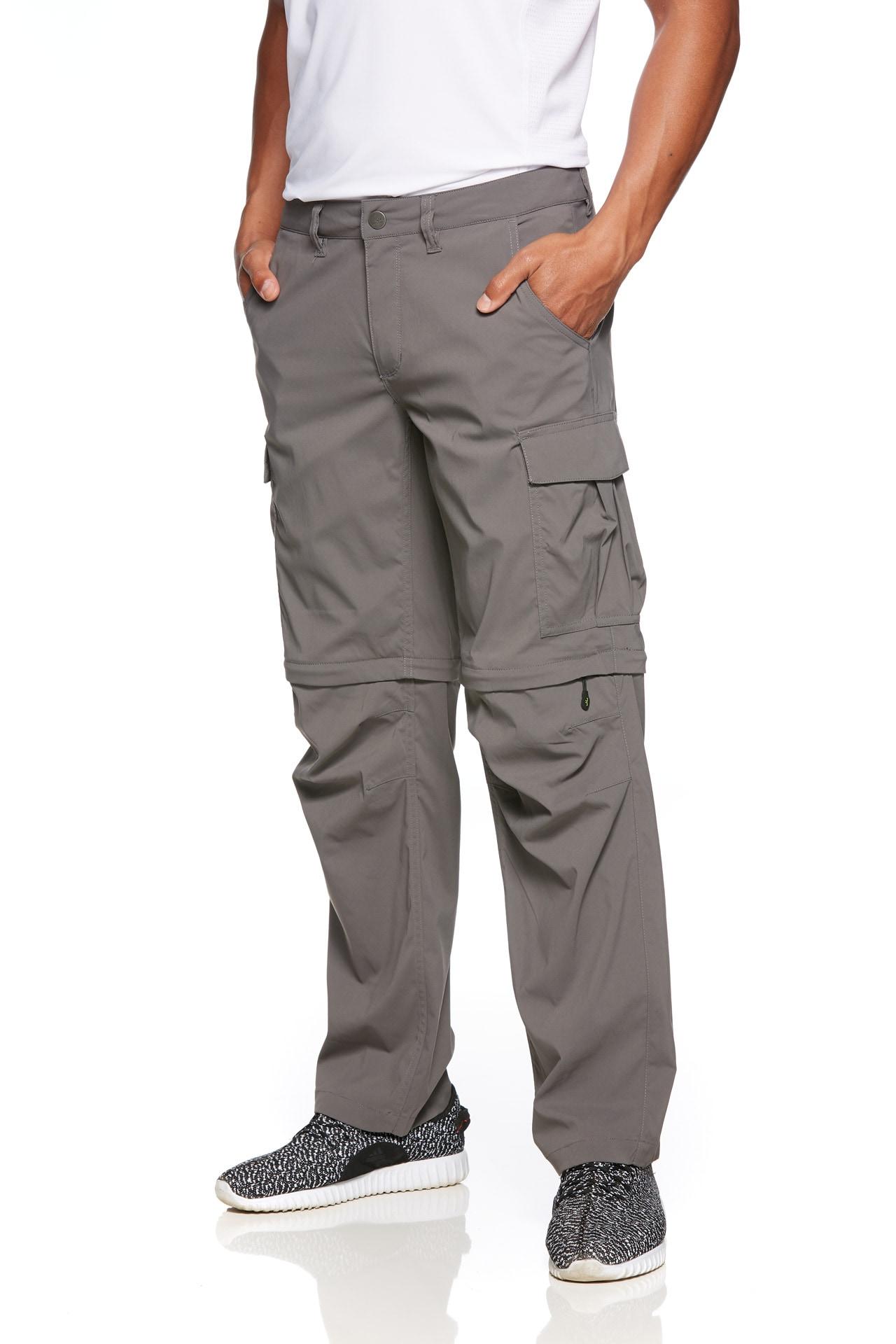 Jeff Green Zip-off-Hose Phill grau Herren Zipp-Off-Hosen Outdoorhosen Hosen