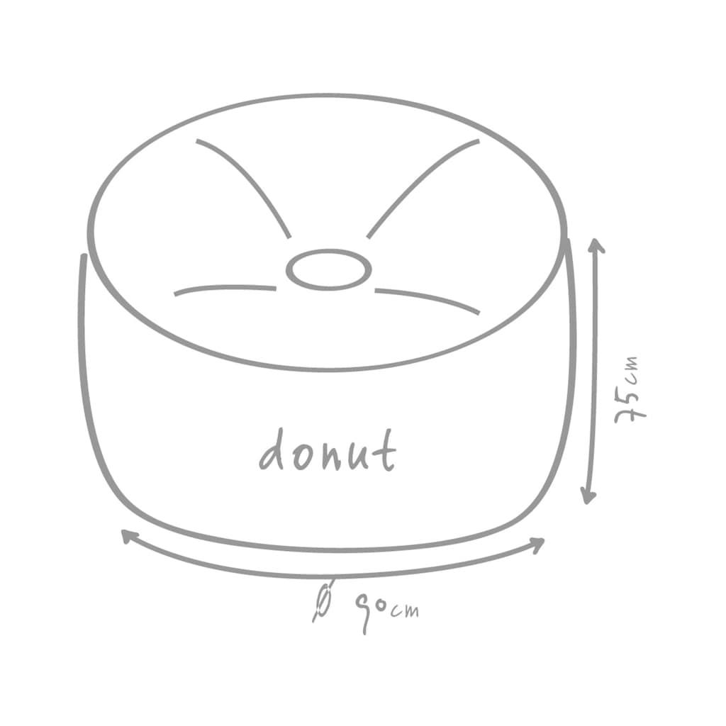 OUTBAG Sitzsack »Donut Plus«, wetterfest, für den Außenbereich, Ø: 90 cm