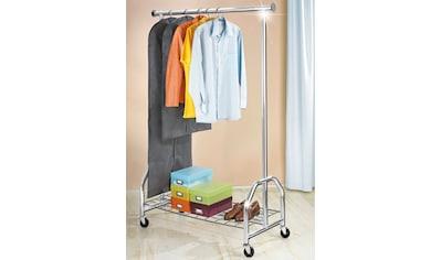 WENKO Garderobenständer »Kleiderständer Profi verchromt«, mit großer Gitternetz-Schuhablage kaufen