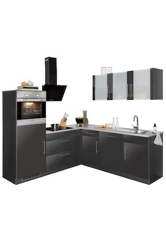 wiho Küchen Winkelküche »Cali«, mit E - Geräten, Stellbreite 210 x 220 cm kaufen