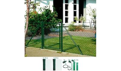 GAH Alberts Maschendrahtzaun, 100 cm hoch, 40 m, grün beschichtet, zum Einbetonieren kaufen