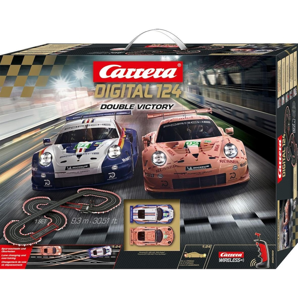 Carrera® Autorennbahn »Carrera® Digital 124 - Double Victory«, (Set)