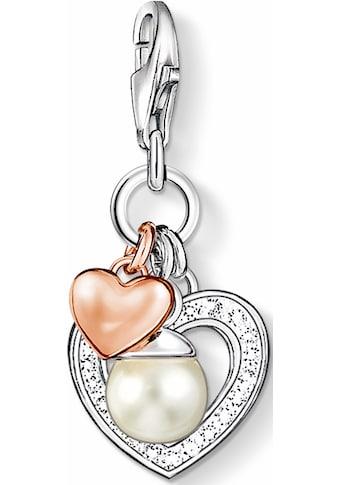 THOMAS SABO Charm-Einhänger »Herz, 0937-426-14«, mit Zirkonia und Süßwasserzuchtperle kaufen