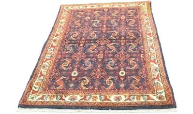 morgenland Wollteppich »Malayer Teppich handgeknüpft blau«, rechteckig, 9 mm Höhe,... kaufen
