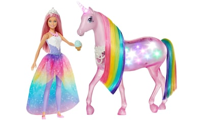 """Mattel® Anziehpuppe """"Barbie Dreamtopia Magisches Zauberlicht Einhorn mit Puppe"""" kaufen"""