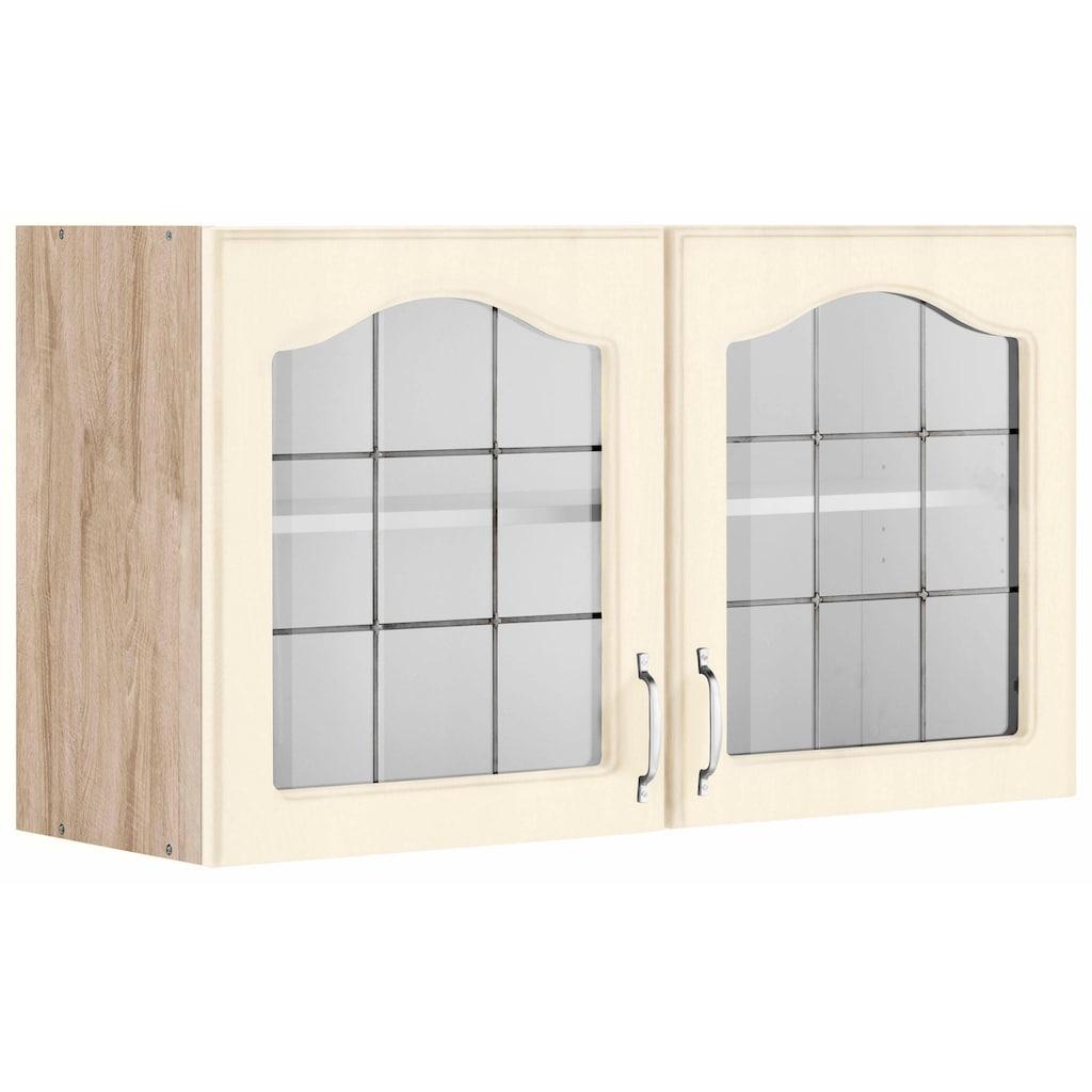 wiho Küchen Glashängeschrank »Linz«, 100 cm breit, mit 2 Glastüren