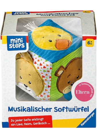 Ravensburger Greifspielzeug »ministeps® Musikalischer Softwürfel«, mit Sound, FSC® - schützt Wald - weltweit kaufen