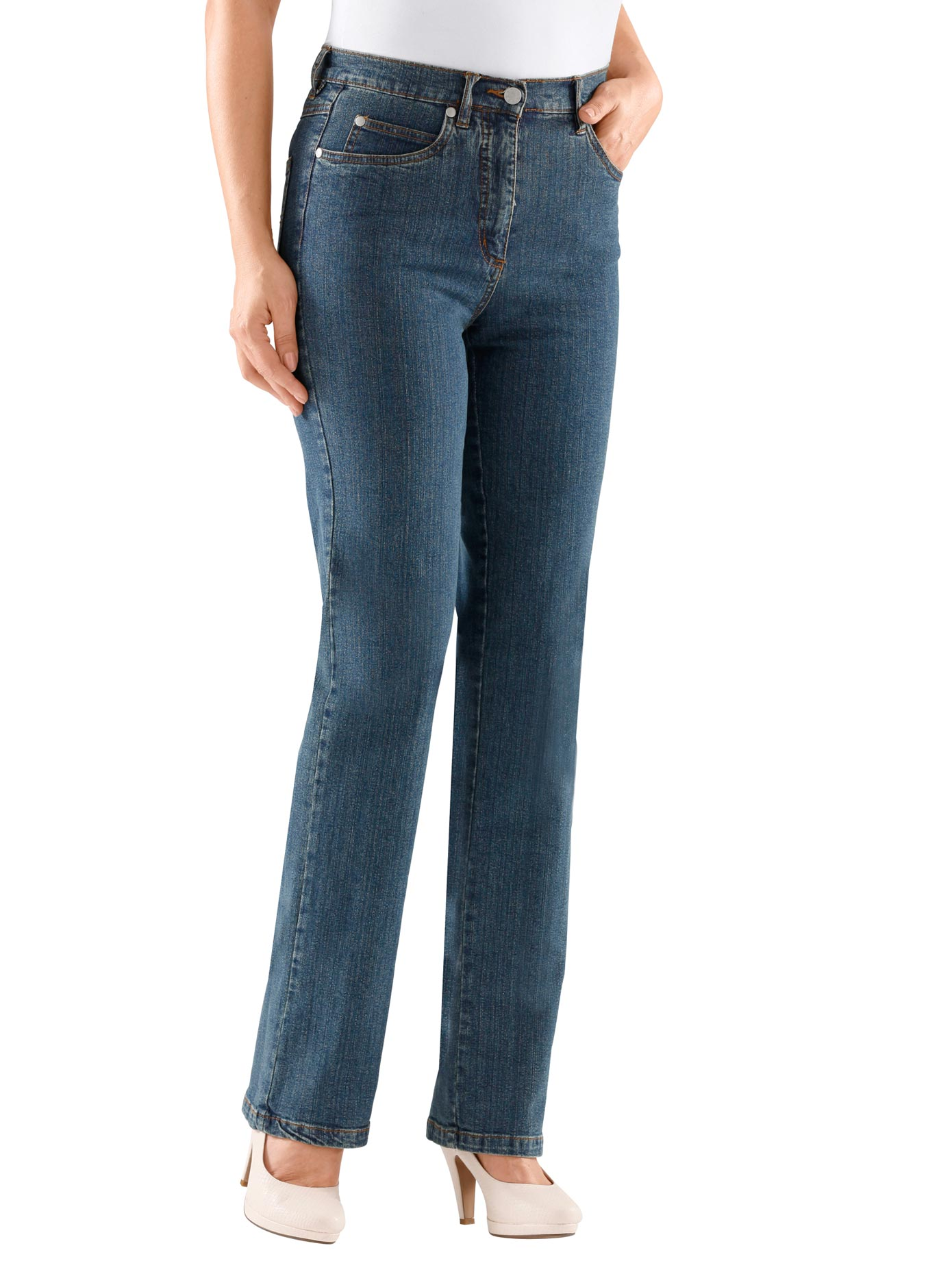 Casual Looks Jeans in bequemer Stretch-Qualität   Bekleidung > Jeans > Jeggings   Blau   Casual Looks