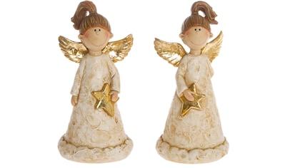 Engelfigur, goldfarben dekoriert kaufen