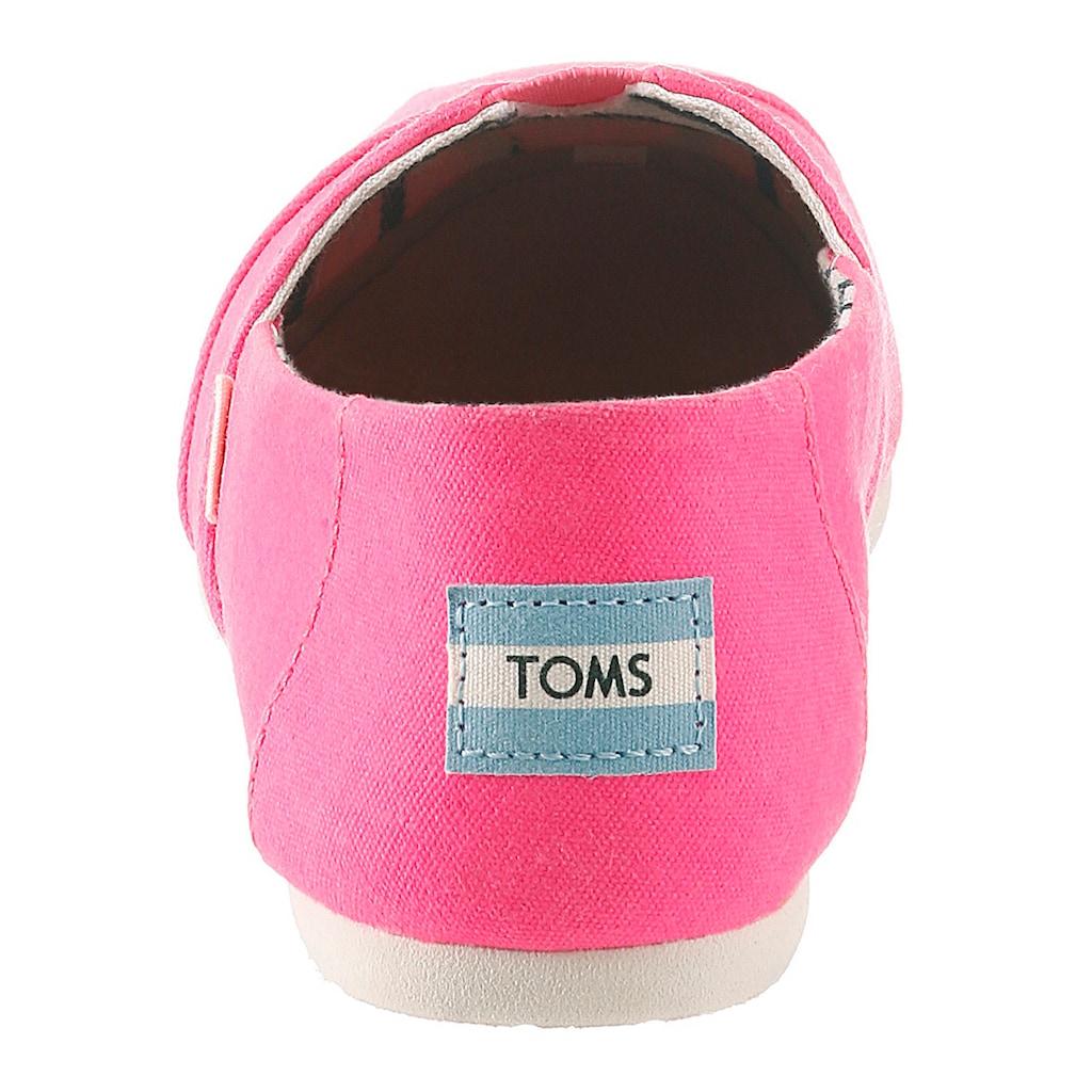TOMS Espadrille, in trendiger Neon-Optik