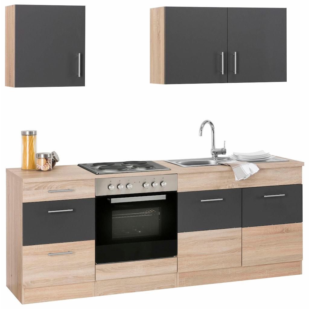 HELD MÖBEL Küchenzeile »Perth«, ohne E-Geräte, Breite 210 cm