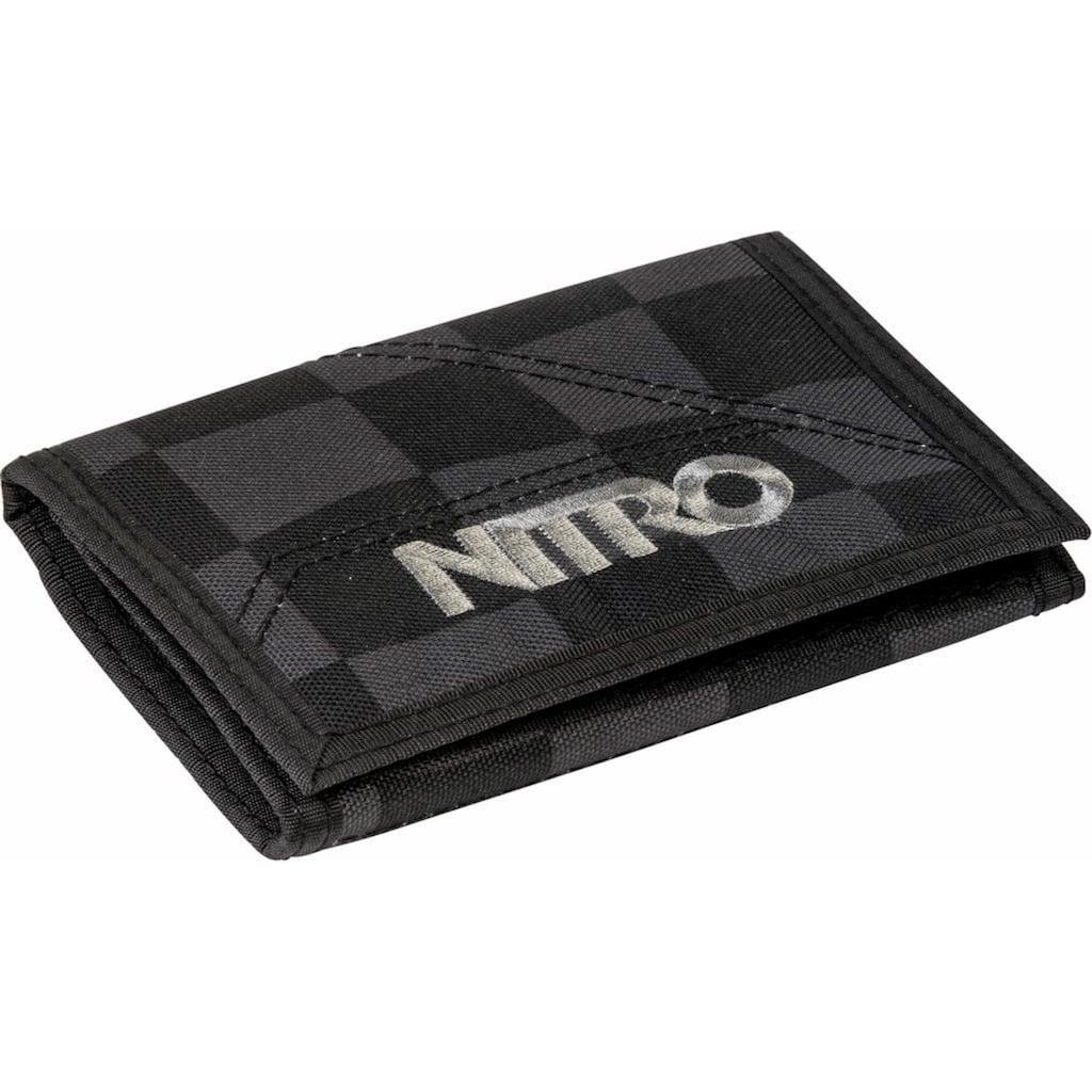 NITRO Geldbörse »Walled, Black Checker«