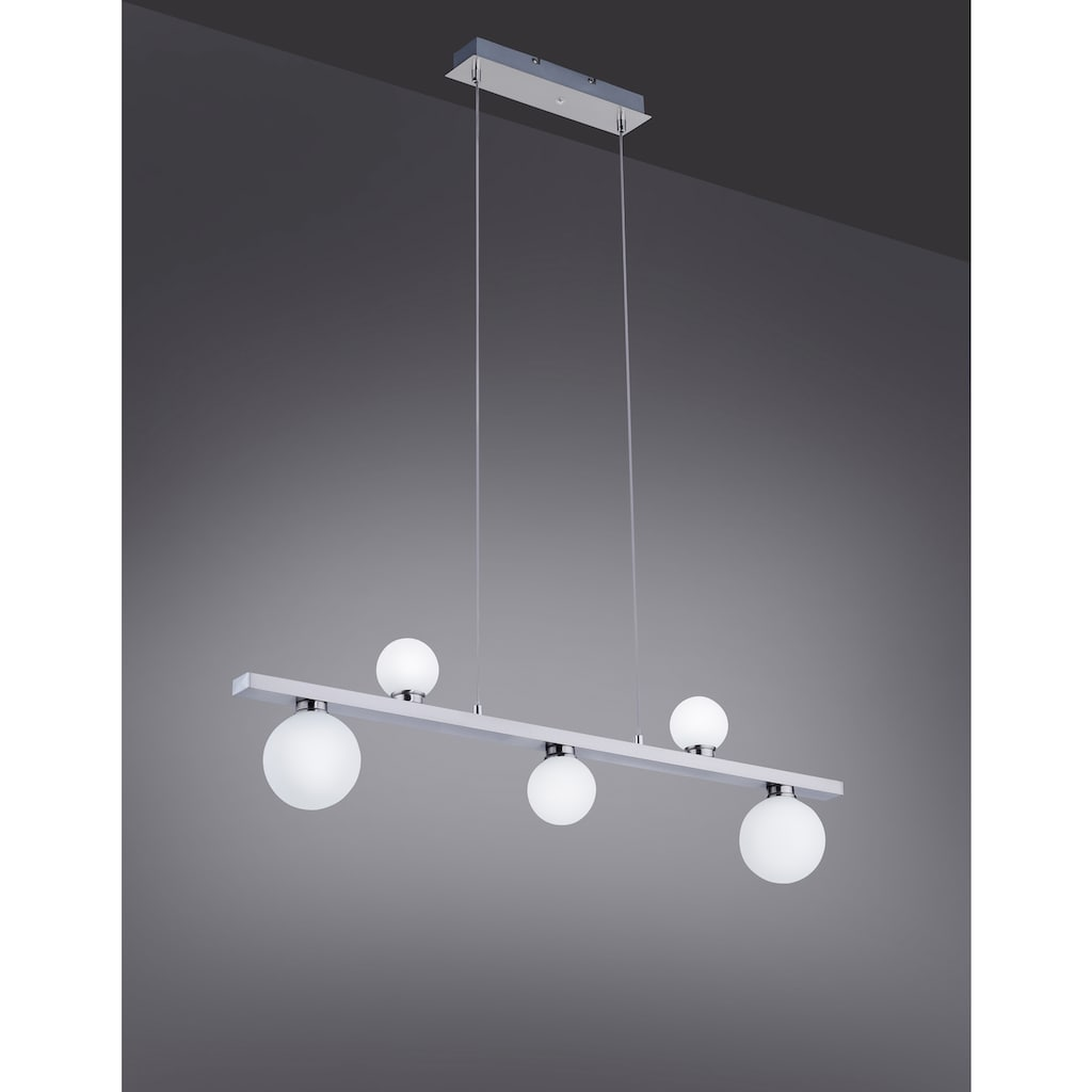 TRIO Leuchten LED Pendelleuchte »DICAPO«, LED-Board, 1 St., Farbwechsler, Hängeleuchte, RGBW, dimmbar, Smart Home, Farbwechsel