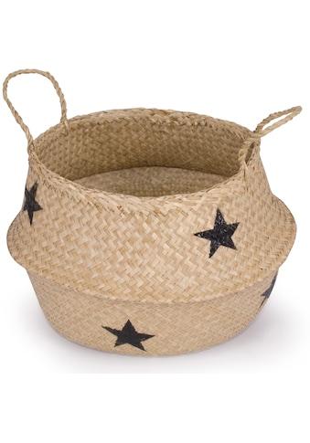 Franz Müller Flechtwaren Dekokorb »Belly Basket«, (1 St.), aus Seegras, mit Sternendekor kaufen
